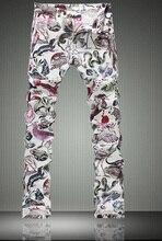Мода Животных Печати Тонкий Джинсы Мода Узкие Брюки