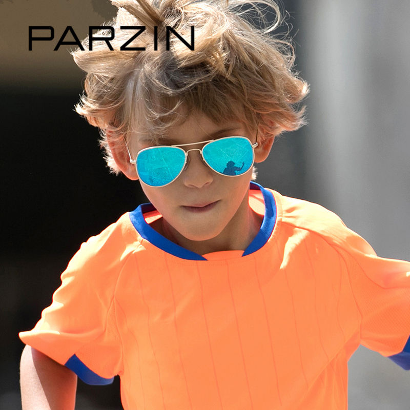 PARZIN Brand Children's Pilot Polarized Sunglasses For Boys Quality Classic Ultra-Light Aviation Glasses Kids Accessories 8066 classic men pilot polarized sunglass aviation driving sunglasses sport sun glasses for men male oculos de sol masculino cc0529