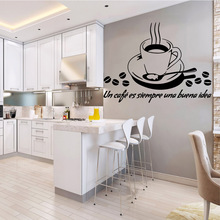 Drop Shipping coffee Pvc Wall Decals Home Decor Living Room Mural Bedroom Removable