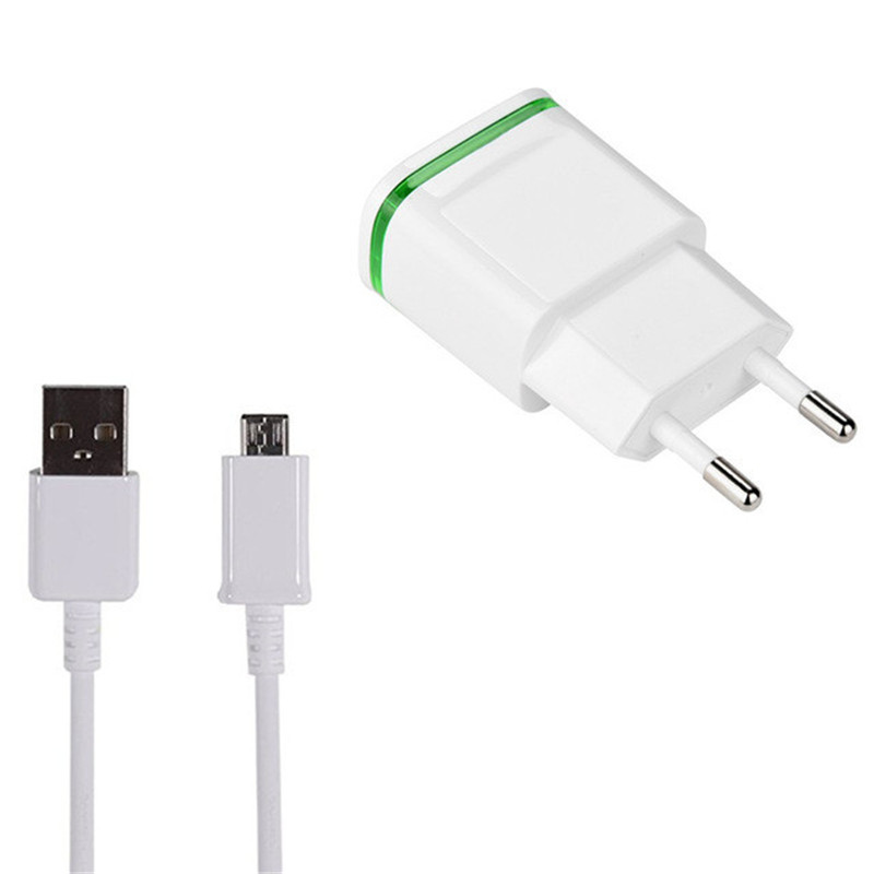 Type C Usb <font><b>charger</b></font> 5V 2A 2 Ports EU Plug adapter charge for <font><b>Nokia</b></font> 5.1 6.1 7.1 <font><b>8.1</b></font> 7 plus X71 9 PureView 8 sirocco Charging cable image