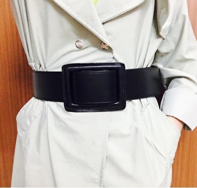 Fashion Women leather Belt Pin Buckle Cowskin Genuine Leather Belt For Women Wide Waist Belts Casual luxury Belts Womens