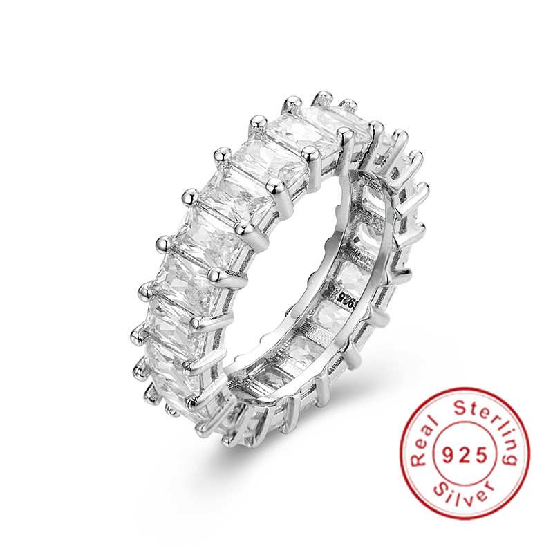 925 SILVER PAVE Radiant cut FULL SQUARE Simulated Diamond CZ ETERNITY BAND ENGAGEMENT WEDDING Stone Ring Size 5,6,7,8,9,10,11,12925 SILVER PAVE Radiant cut FULL SQUARE Simulated Diamond CZ ETERNITY BAND ENGAGEMENT WEDDING Stone Ring Size 5,6,7,8,9,10,11,12