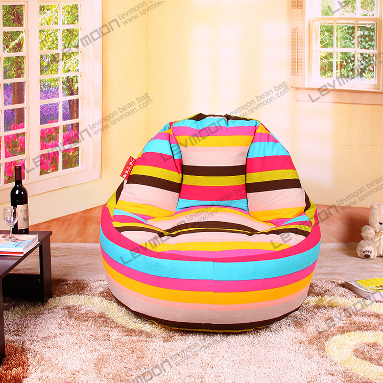 FREE SHIPPING Bean Bag Chair Pattern 100CM Diameter Chairs Coffee 100 Cotton Canvas Extra Large In Living Room From