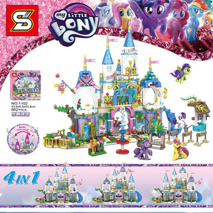 Строительные наборы серии Friend SY1102, 862 шт., сердце, озеро, город, пони, модель замка, строительные наборы, блоки, совместимые с LEGO, игрушки в пода...