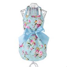 2019 Summer New Style Cotton Pet Clothes Ribbon Princess Dress Dog