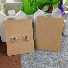 DIY Hand Made Blank kraft Earring Card For 1 pair Earring Display Custom Logo moq : 1000 pcs Cost Extra Wholesale