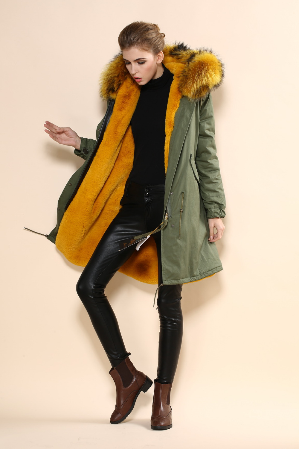 Popular Ladies Green Coat-Buy Cheap Ladies Green Coat lots from ...