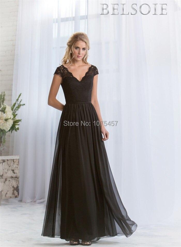 Popular Black Bridesmaid Dress Short-Buy Cheap Black Bridesmaid ...