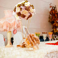 Metal Flower Stand flower vase Wedding Decoration gold table centerpiece free shipping by EMS