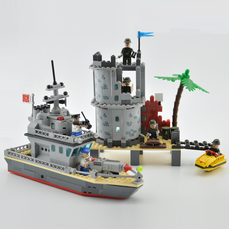 model building kits compatible with lego city warship 520 3D blocks Educational model & building toys hobbies for children lepin 02012 city deepwater exploration vessel 60095 building blocks policeman toys children compatible with lego gift kid sets