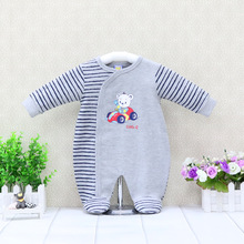Overalls Baby Christmas One-Piece Children Suits Rompers Long-Sleeve Toddler Boys 0-12-Months