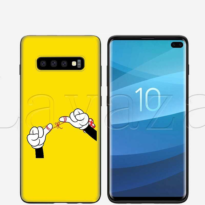 Lavaza Mickey Mouse Gesto della Mano per il Caso di Samsung Galaxy S6 S7 Bordo S8 S9 S10e Più A3 A5 A6 A7 a8 A9 J6 Nota 8 9 2018