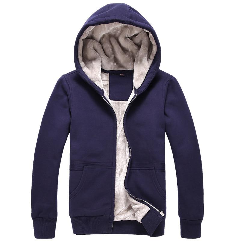 Thicken Hoodie Men 2017 Brand Winter Warm Thick Velvet Male Hoodies Sweatshirts Men Coat Zipper Cardigan