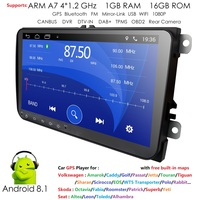 EU/AU/US warehouses 9 Android 8.1 Car radio GPS Navigation for VW Skoda Octavia golf 5 6 touran passat B6 jetta polo tiguan RDS