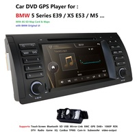 Free camera Car DVD Radio 7 For BMW E39 X5 E53 With GPS Bluetooth RDS USB SD Steering wheel control DAB DTV BT RDS FM Radio