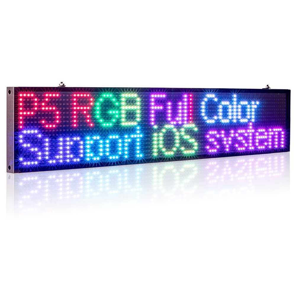 50 Cm P5MM RGB LED Sign Penuh Warna Multiwarna Programmable Pesan Bergulir LED Display Papan Tampilan Multi Bahasa