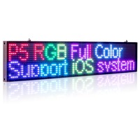 50CM P5MM RGB Led Sign Full color multicolor Programmable Scrolling Message LED Display Board Display Multi language