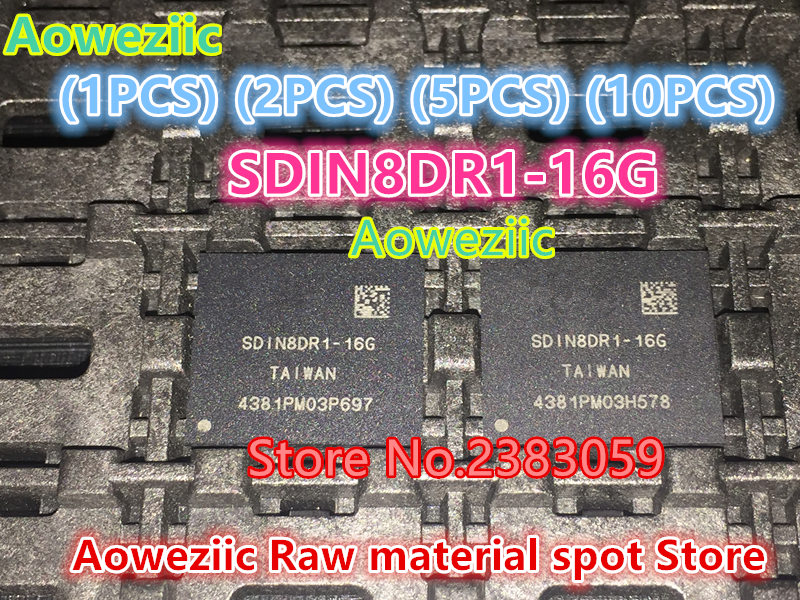 Aoweziic (1 PCS) (2 PCS) (5 PCS) (10 PCS) 100% new original SDIN8DR1-16G BGA Mémoire puce SDIN8DR1 16G