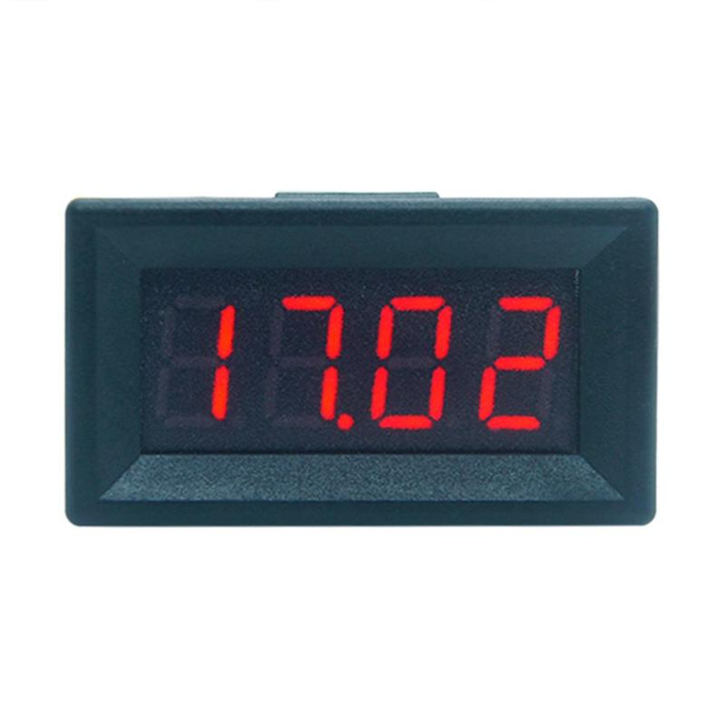 Mini Digital Voltmeter Ammeter LED Display 4 Bits DC 0-100V Panel Amp Volt Voltage Meter Tester Detector for Car Home mini voltmeter tester digital voltage test battery dc 0 30v red blue green auto car