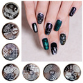 On sale !!1PC Nail Stamping Plate Image Transfer Templates Stamp Tool hehe27--Slytherin - harry potter