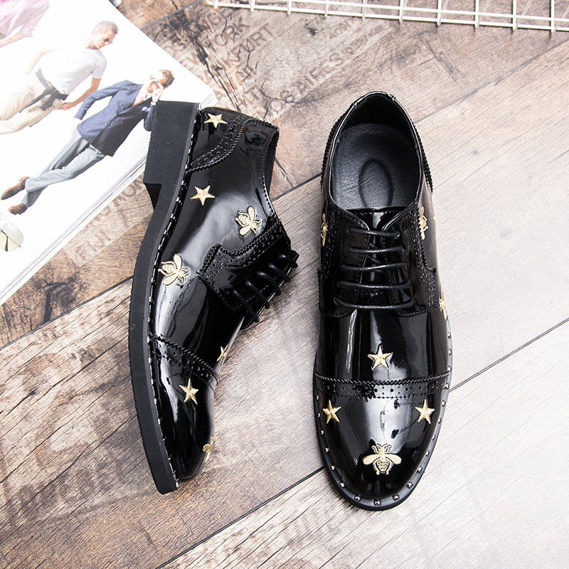 fashion suits leather shoes men luxury brand italian wedding male dress footwear designer embroidery brogue oxford shoes for men