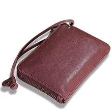 Frauen Geldbörse Aus Echtem Leder Kreditkarteninhaber für Frauen Geldbörse Ändern Tasche Brieftasche Durch Handarbeit Vintage Geschenk 2017 Retro