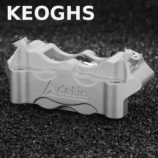 KEOGHS Adelin Motorcycle Front Brake Calipers Brake Pumb 108mm 4 Piston Cnc For Honda Yamaha Kawasaki Suzuki Ducati keoghs motorcycle front shock absorbers front fork tube suspension 26mm 27mm for yamaha scooter jog rsz force