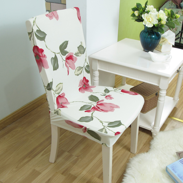 1piese printing chair covers for dining table chairs office chairs