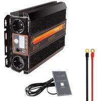 Инвертор автомобиля DC 12 В к AC 220 В Мощность инвертор Зарядное устройство конвертер трансформатор автомобиля Питание переключатель 500 Вт 1000 в