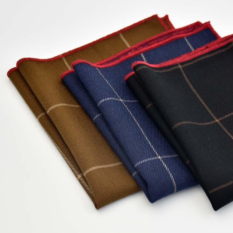 Multicolor Square Stripe Ladies Handkerchiefs Cotton Vintage Pocket Hanky Plaid Handerchief Ladies Hankies 24*24cm