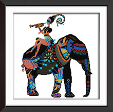 Joy Sunday Cross Stitch Kit Colorfule Elephant Home Deco needlework Painting