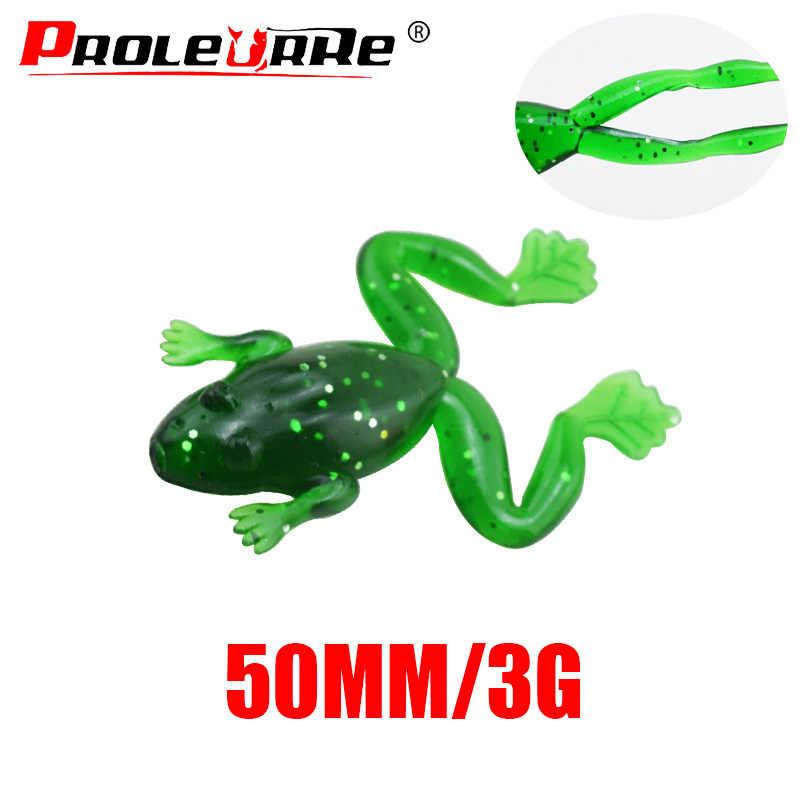 1 pçs sapo macio isca 50mm 3g wobbler isca de pesca mar jig lure sílica gel de natação isca artificial truta pique baixo PR-256