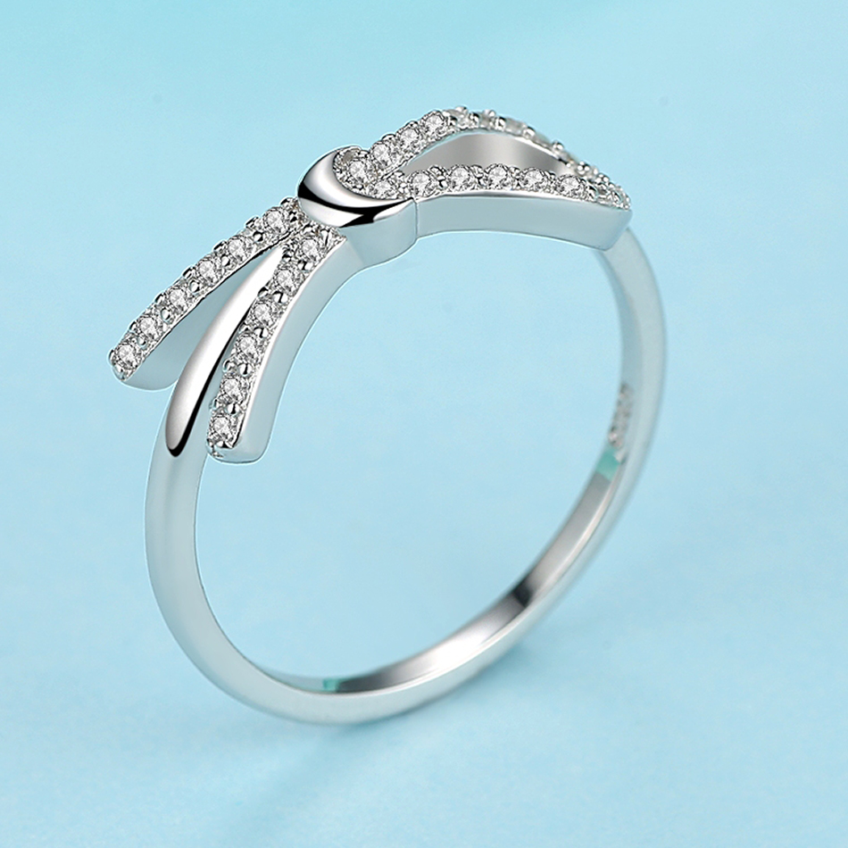 Engagement Eternity Infinity Bow Knot RING CZ AAA 100/% 925 Sterling Silver Gift