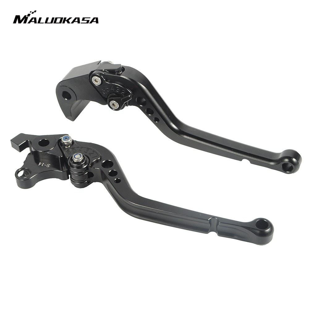 MALUOKASA Motorcycle CNC Brake Clutch Lever Standard Handlebar Extendable Brake For Suzuki GSXR1000 2007 2008 GSXR 1000 K7 K8 rp sma female to y type 2x ip 9 ms156 male splitter combiner cable pigtail rg316 one sma point 2 ms156 connector for lte yota