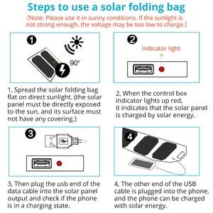 Image 5 - LERRONX المحمولة لوحة طاقة شمسية s شاحن 10 واط 5 فولت 2.1A Sunpower لوحة شمسية قابلة للطي تهمة بطارية للهاتف المحمول التخييم في الهواء الطلق