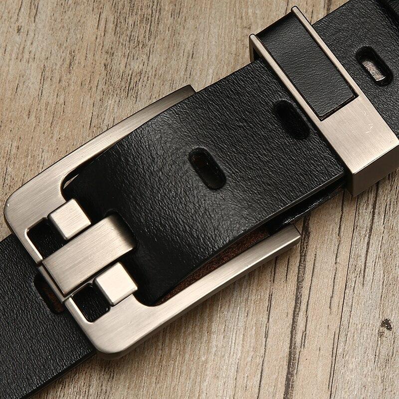 [LFMB] cinturón de cuero masculino cinturón de hombre correa de cuero genuino de lujo hebilla cinturones para hombres cinturón Cummerbunds ceinture homme