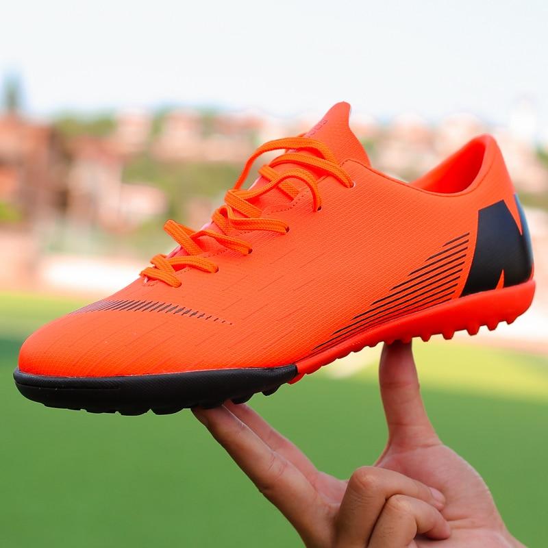e3e516c6c Soccer Boots Indoor Turf Futsal Sneakers TF   Long Spikes Men Shoes Soccer  Cleats Original Football Sports Shoes for Women Men