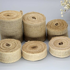 Image 4 - IBOWS 50yards Jute Burlap Ribbon Natural Hemp Ribbon for DIY Bag Material Wedding Party Craft Decorative Gift Warrping Wholesale