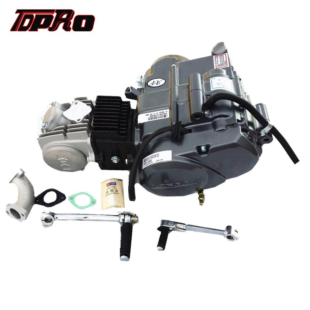 TDPRO Lifan 4 temps 125CC moteur moto Pit Dirt Bike démarrage moteurs pour Honda XR50 CRF50 XR70 CRF70 CT70 ST70 110CC