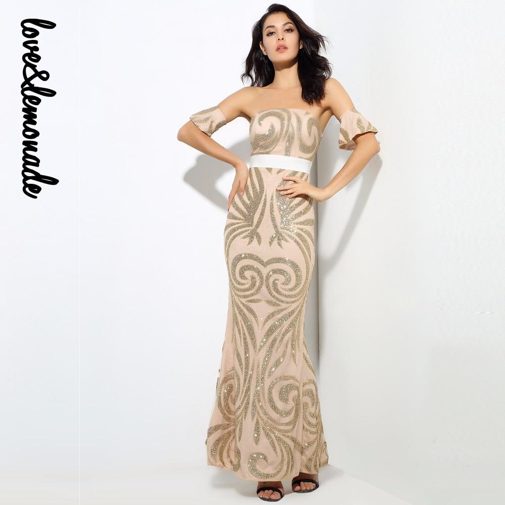 Kadın Giyim'ten Elbiseler'de Aşk ve Limonata Geometrik Desen Boncuk Sutyen Uzun Elbiseler Siyah/Altın LM0213'da  Grup 3