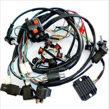 GY6 Wire Loom Harness Solenoid Magneto Coil Regulator CDI 150cc ATV Quad Bike TA
