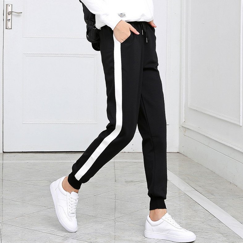 2018 Long Leisure Pants Women Bottoms Summer Spring Female Clothes Double Striped Jogger Haren Pants Sweatpants women   leggings