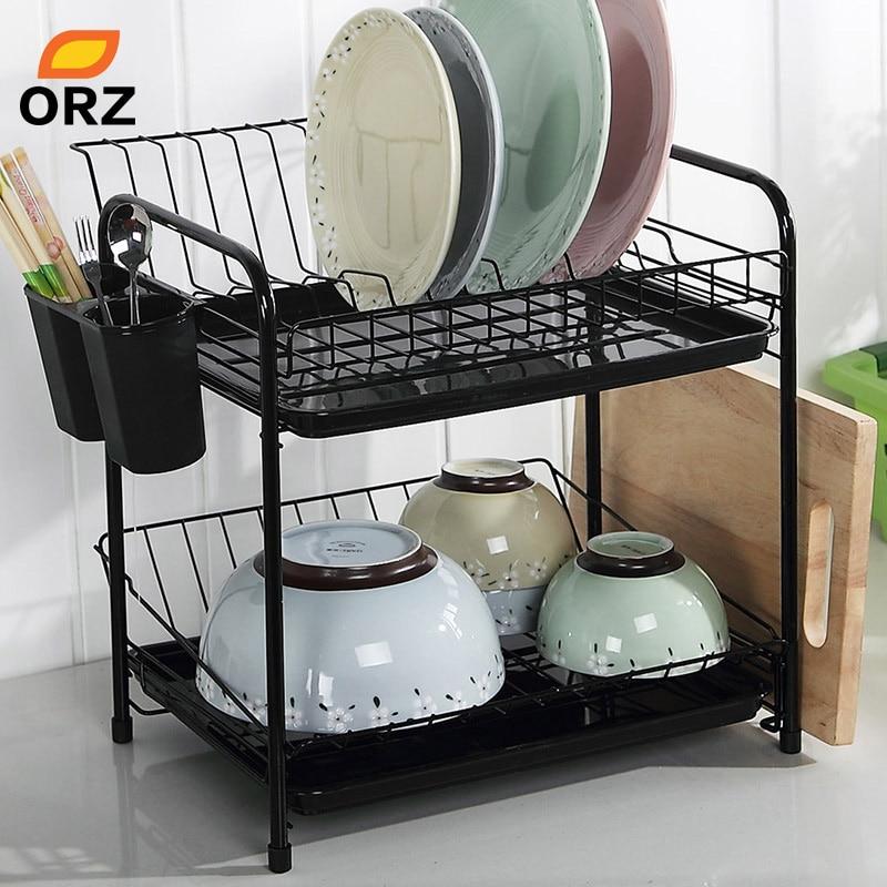 Orz dish rack Set 2 niveles cromo cocina organizador Herramientas ...