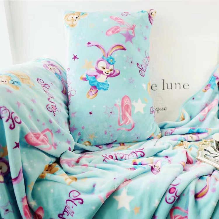 Candice guo! Brinquedo de pelúcia dos desenhos animados duffy amigos stellalou coelho fronha ar-condicionado cobertor nap cobertor presente de aniversário 1pc
