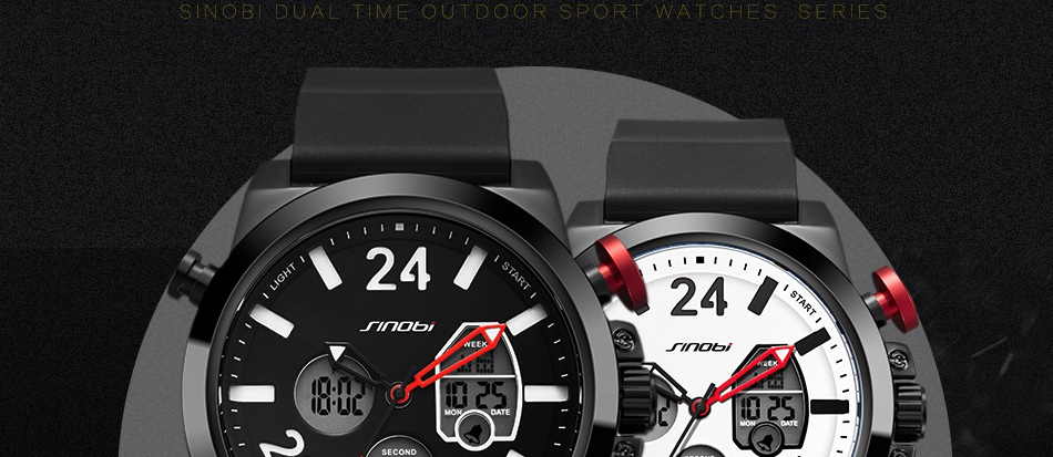 HTB1pueQkY1YBuNjSszhq6AUsFXaE SINOBI 2020 Men Wrist Watches LED Chronograph