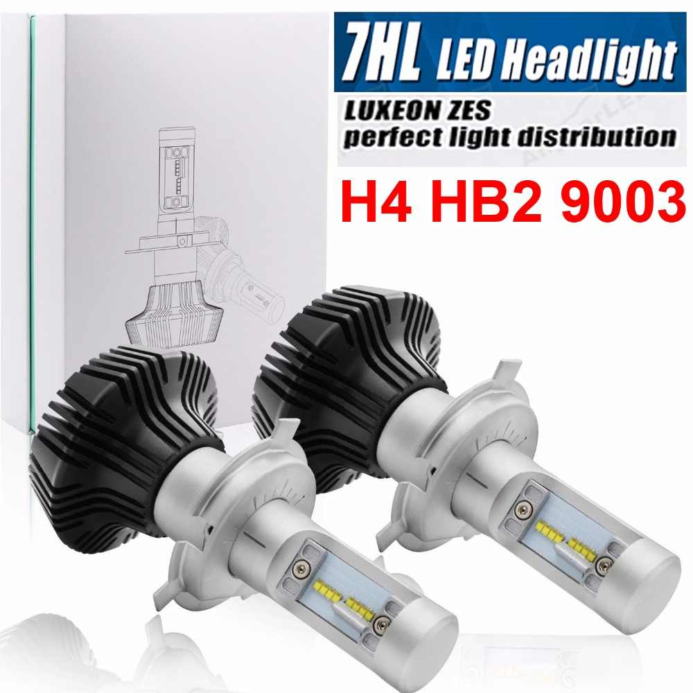 1 Set H4 9003 50W 8000LM ZES LED CHIPS G7 LED Headlight H1 H7 H8 H9 H11 9005/6 9012 H13 9007 PSX24W 880 Fanless Bulbs Lamp 6500K