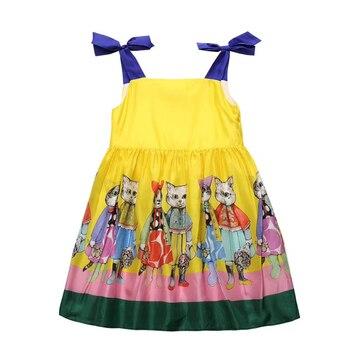 cd00707e76113f3 Летнее платье для девочек платье на бретелях для малышей Детское ...