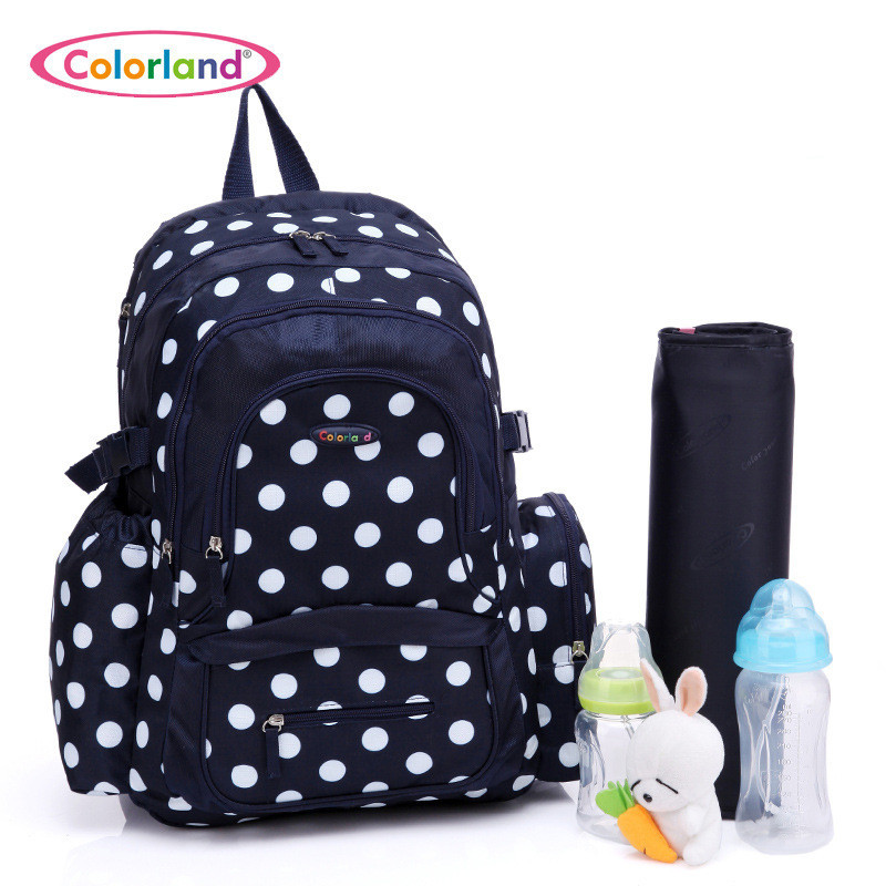 Colorland Baby Bag Organizer Tote Diaper Bags Large Nappy Bag For Stroller Diaper Backpack Mother Maternity Bags Mom Backpack sunveno pu leather baby bag organizer tote diaper bags mom backpack mother maternity bags diaper backpack large nappy bag