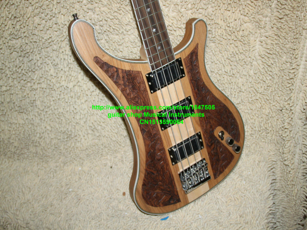 NEW Custom 4003 Basse 4 cordes Basse Guitare bois Manuel sculpture basse Électrique Livraison Gratuite