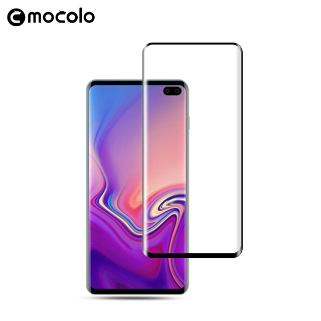 Mocolo 3D Curved Full Screen Premium Glass for Samsung Galaxy S10 and S10 Plus Tempered Glass Film Full Cover Screen Protector